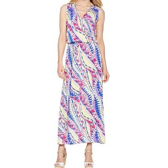nikki poulos Dresses & Skirts - NWOT Nikki Poulos colorful maxi dress